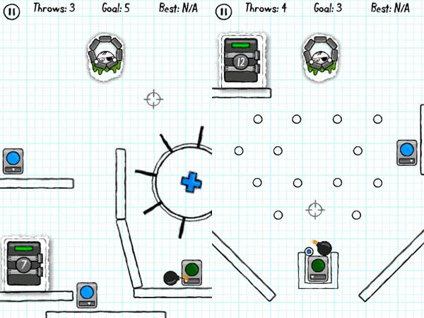 iPhone Gems: Doodle Bomb, Isaac Newton's Gravity + Tumbledrop 4