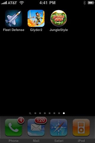 iPhone Gems: 2XL Fleet Defense, Glyder 2 + Jungle Style Pinball 1