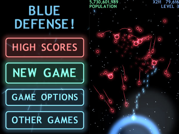 iPhone Gems: Blue Attack, Blue Defense, Zero Chance, Big Fun Racing & Days of Thunder