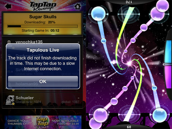 iPhone Gems: Tap Tap Revenge 2, DanceDanceRevolution S, iNinja, Magnetic Joe + Sky Force Reloaded