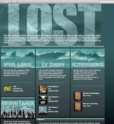 Lost's iPod/iTunes Quinfecta: Game, TV Show, Podcasts, Audiobook