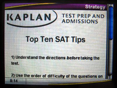 First Look: Kaplan SAT Prep Reading 2008