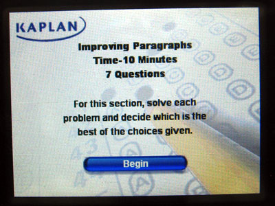 First Look: Kaplan SAT Prep Writing 2008