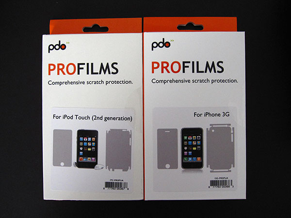 First Look: PDO ProFilms for 2008 iPods and iPhone 3G
