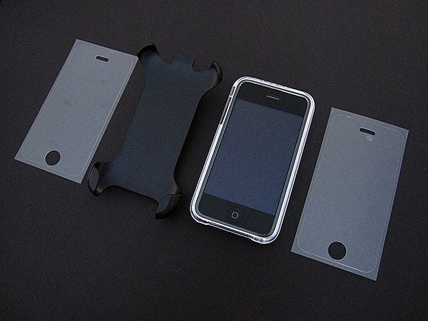 First Look: Power Support Crystal Jacket & Holster Clip Stand for iPhone 3G