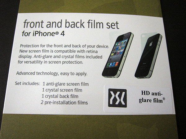 First Look: Power Support Crystal, Front And Back + HD Anti-Glare Film Sets for iPhone 4