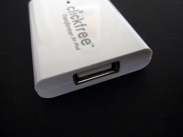 Review: Storage Appliance Corp. Clickfree Transformer for iPod