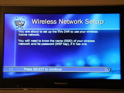 Using TiVo's Wireless G USB Network Adapter