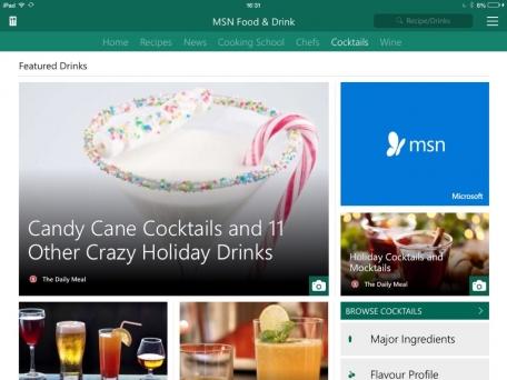 msn ilounge apps drink microsoft week