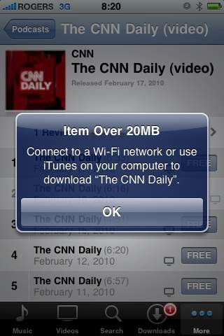 Apple bumps iPhone cellular download cap to 20MB 1