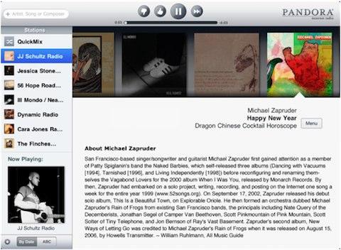 Pandora Radio iPad update released
