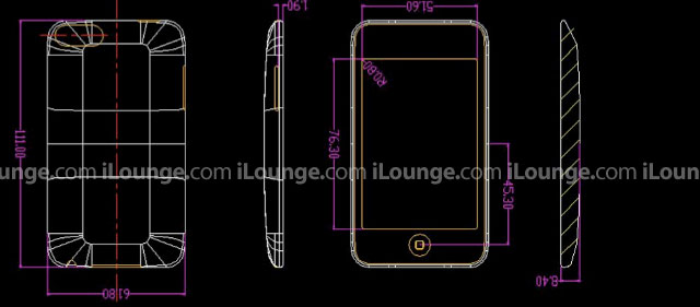 Blueprints of 2nd generation iPod Touch from iLounge