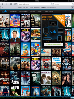 Can You Vudu Movies To Ipad