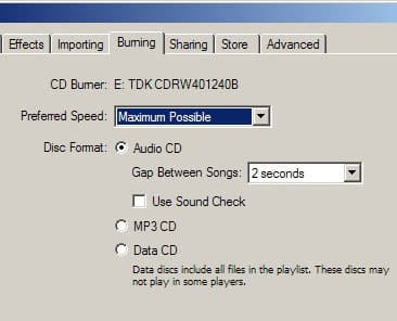 How to burn a CD in iTunes