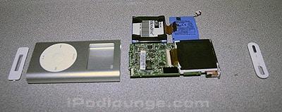 Taking apart the iPod mini