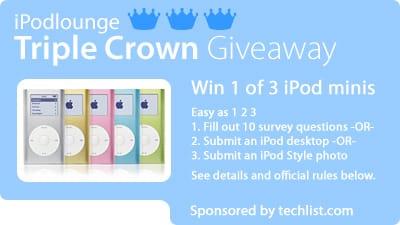 iLounge Triple Crown Giveaway Begins
