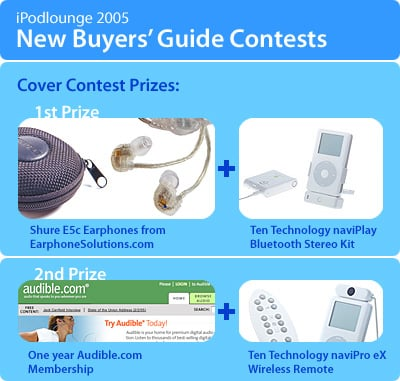 iLounge announces first 2005 Buyers' Guide, 2 New Contests
