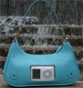 DelaPod handbags feature integrated iPod pocket