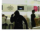 iPod silhouette guy dances at Apple Store