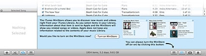 Apple backpedals on iTunes MiniStore