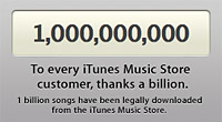 iTunes Music Store sells one billionth song