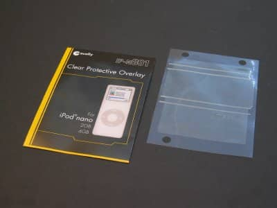 First Look: Macally Clear Protective Overlay for 5G iPods and nanos