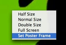 Setting the poster frame for a video file