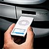 "Mitsubishi ""i"" car sports integrated iPod nano slot"