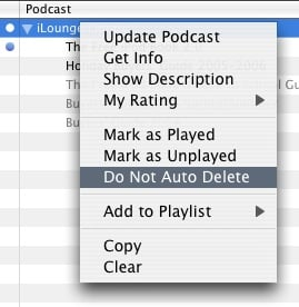 Preserving select podcasts
