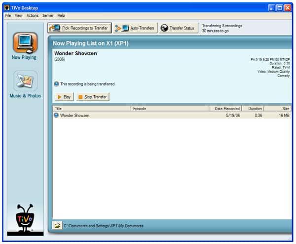 TiVo's Desktop 2.3 Plus, pictures and details, part 1