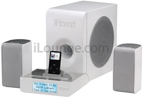 iHome offers iH52 bookshelf iPod speaker system