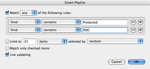 Restoring the 'Purchased' playlist