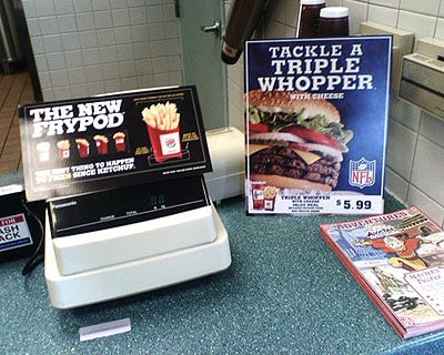 Frypod from Burger King: eat boiling oil, Apple