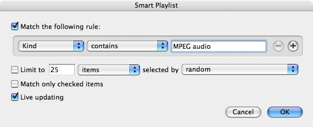 Isolating MP3 songs from AAC