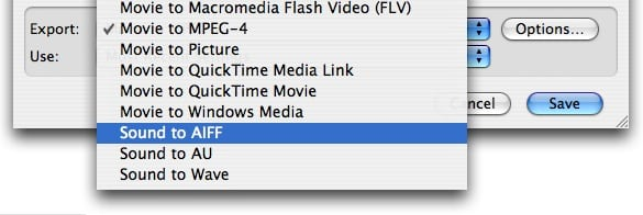 Extracting audio from videos