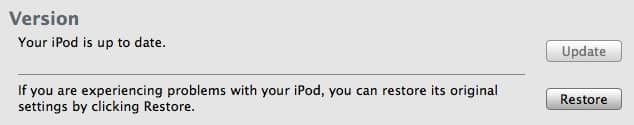Restoring an iPod's missing free space