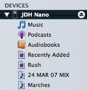Deleting songs manually from an iPod