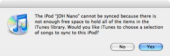 Setting up a new iPod with an existing library
