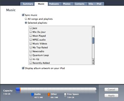 Problems Syncing Selected Playlists