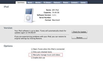 Using an iPod on Mac and Windows