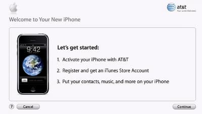 iPhone activation requirements