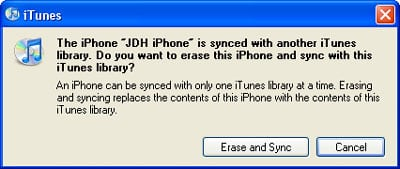 Syncing the iPhone to more than one computer