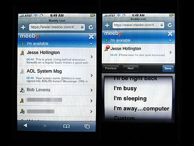Meebo: (Almost) Perfect IM for iPhone