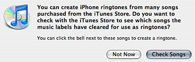Ringtone creation added to iTunes