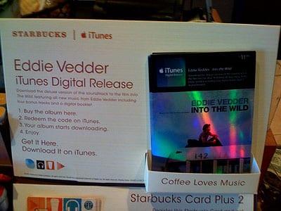 Starbucks' iTunes Digital Releases and Plus 2 Cards