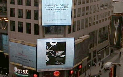 '08 Buyers' Guide appears in Times Square, over 250K downloads