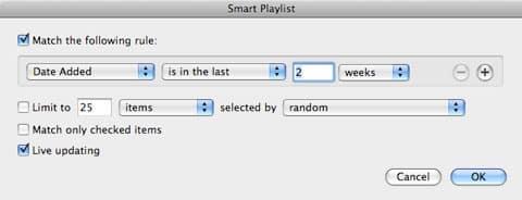 Recreating default playlists