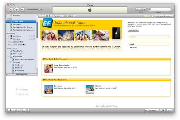 Apple adds private iTunes Store pages, displaying odd new touch device icon [updated]