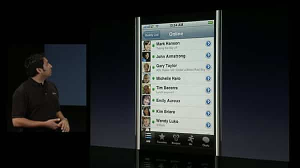 iPhone SDK: AOL demos AIM for iPhone