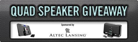 Enter our Quad Speaker Giveaway today